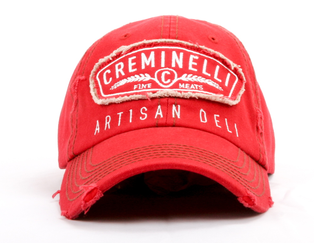 Art and Ink distressed vintage curved visor adjustable cap.