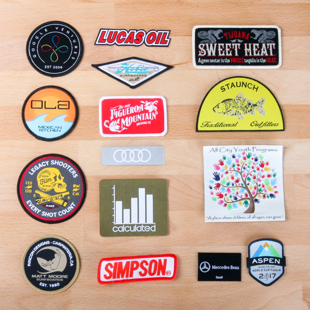 Art and Ink Woven Patches
