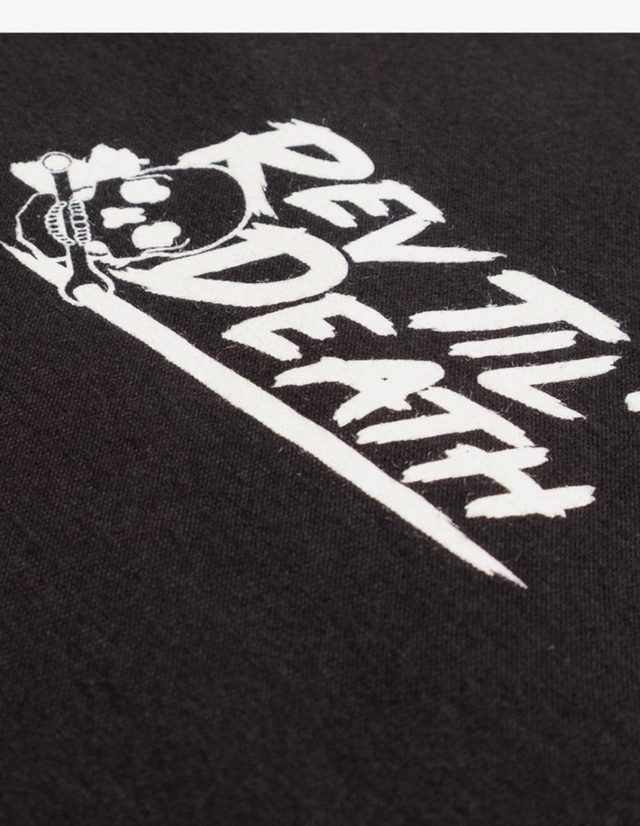 Art and ink rev til death vintage printed t-shirt look