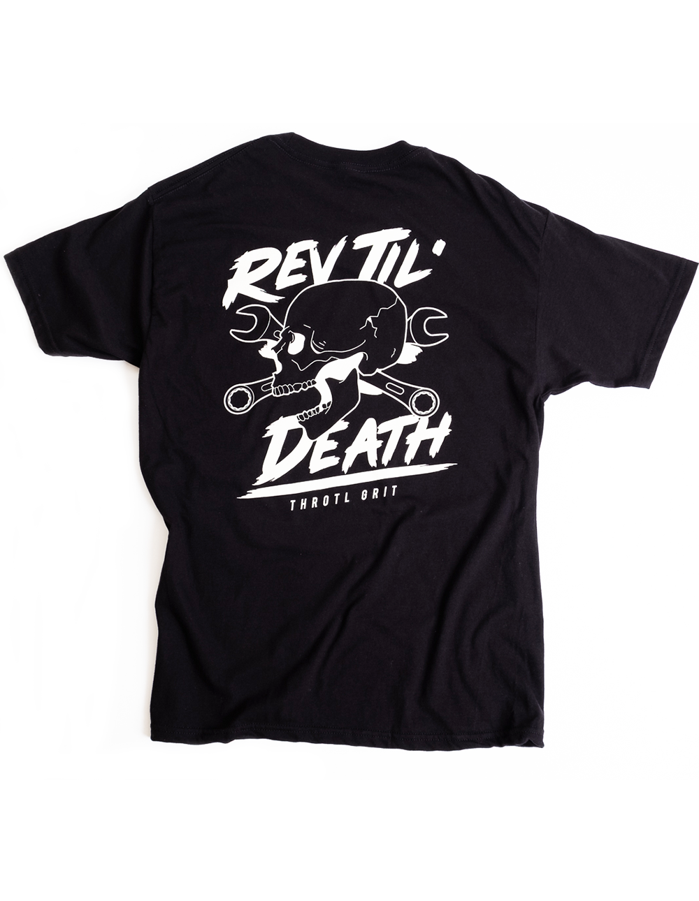 Art and ink rev til death vintage printed t-shirt look