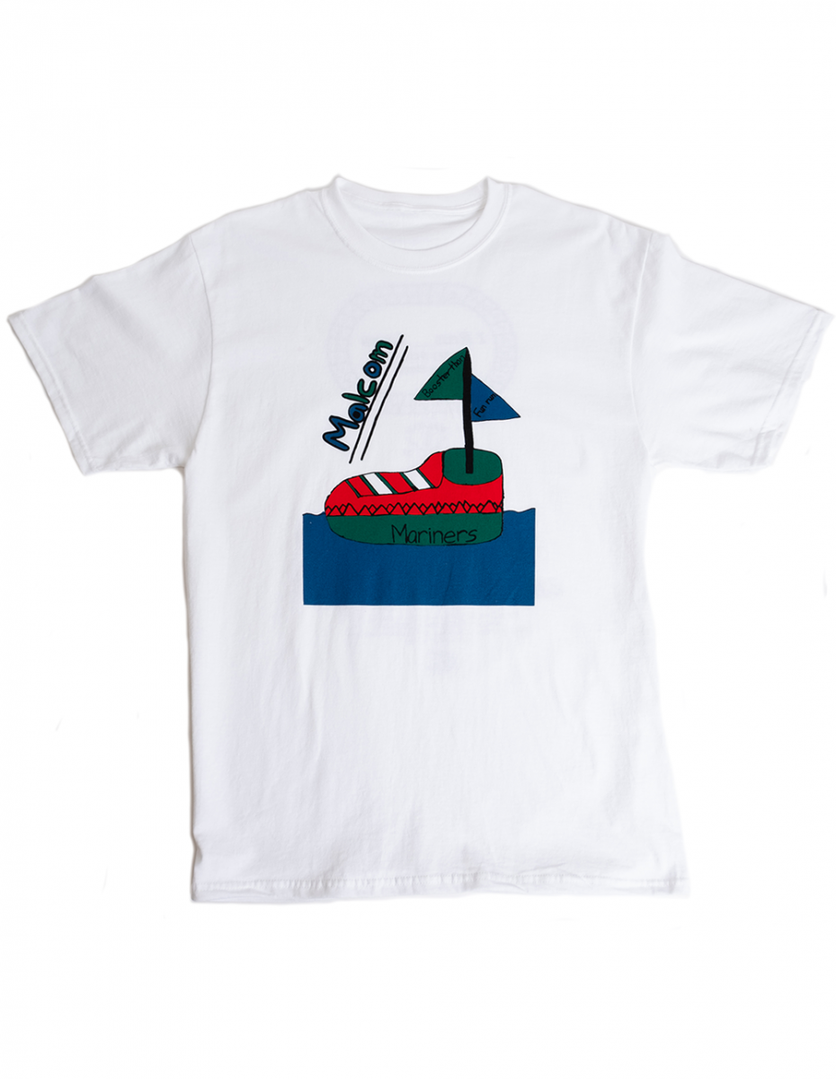 art and ink mariners printed school t-shirt